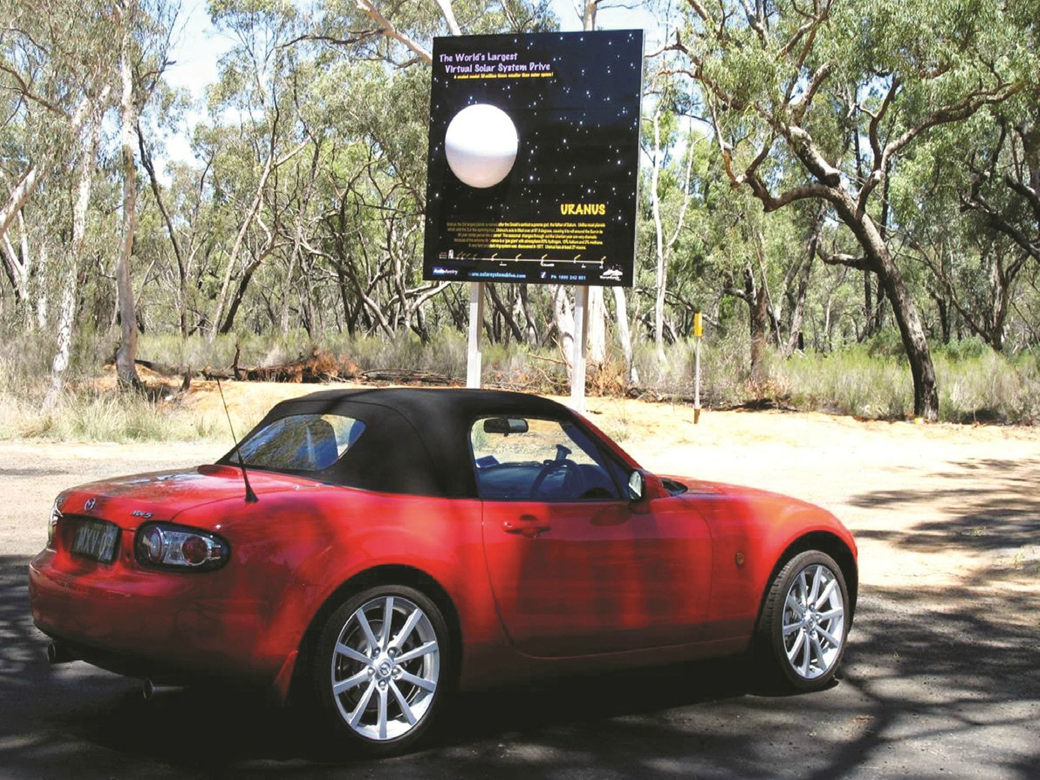 Worlds Largest Virtual Solar System Drive - Attractions Perth
