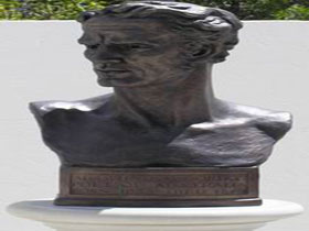 Adam Lindsay Gordon Bronze Bust - Attractions Perth