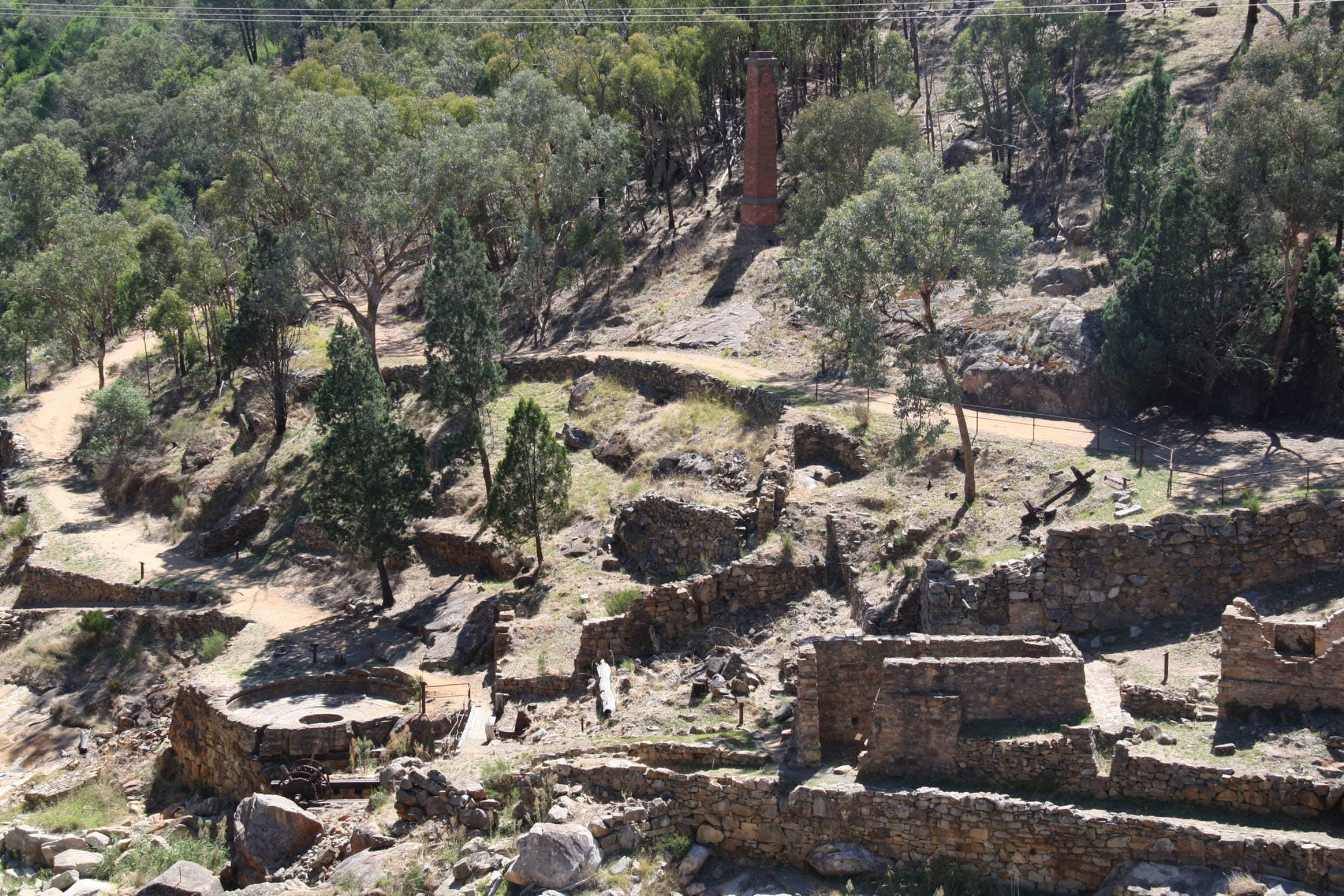 Adelong Falls Gold Mill Ruins - Attractions Perth